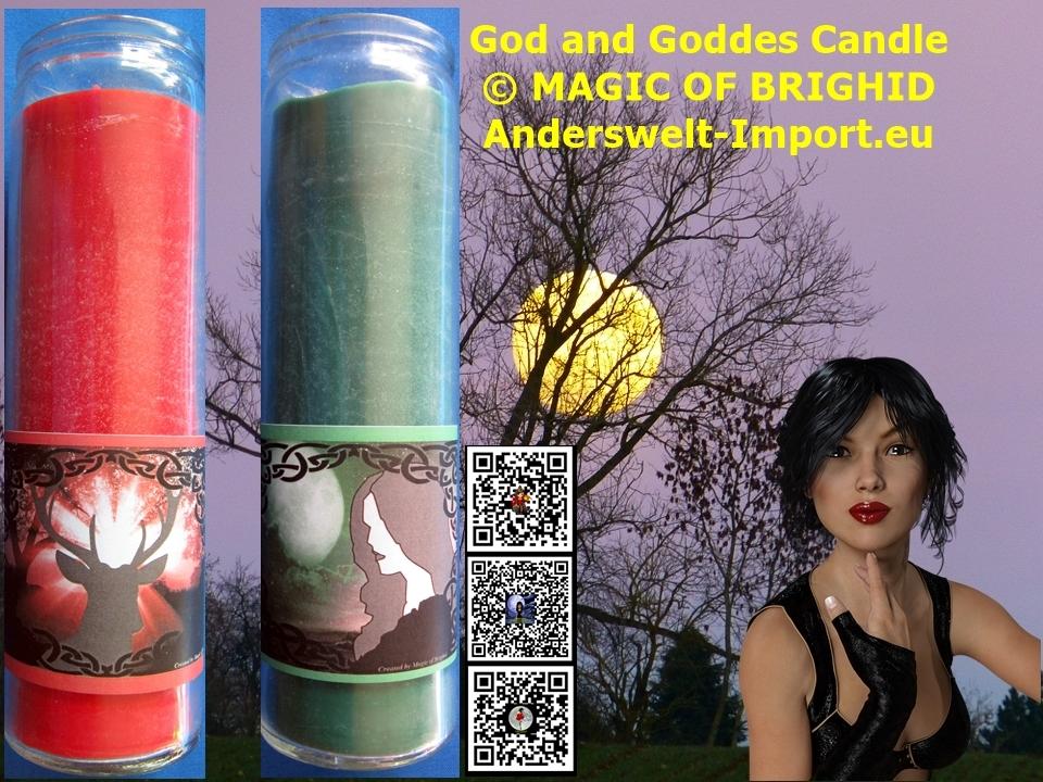 göttin und gott kerze hexenrituale
